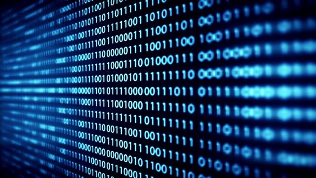 teknik bakgrund footage - binär kod bildbanksvideor och videomaterial från bakom kulisserna