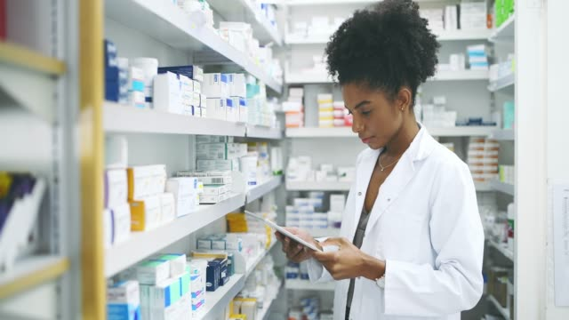 technology changed the way we recommend medicine - pharmacist stock videos & royalty-free footage