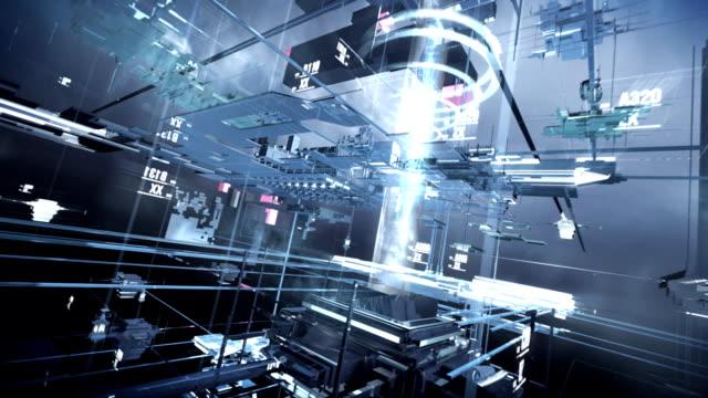 テクノロジーの街 - 工業技術点の映像素材/bロール