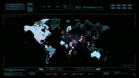 vidéos et rushes de centre de commande de la technologie hud. - conflit