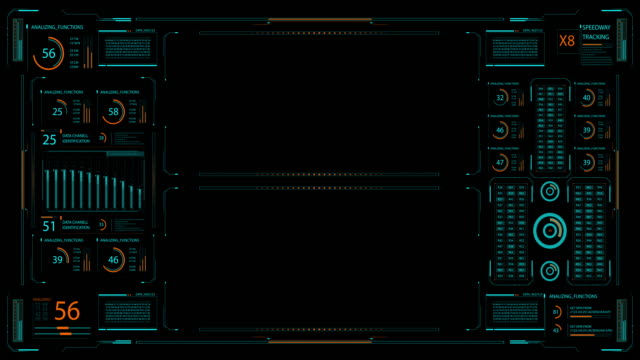 hud technology command control center. - loading screen stock videos & royalty-free footage