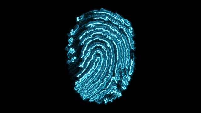4k technology finger print - biomedical animation stock videos & royalty-free footage