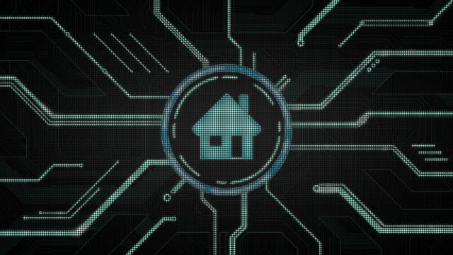 technologie & house - computergrafiken stock-videos und b-roll-filmmaterial