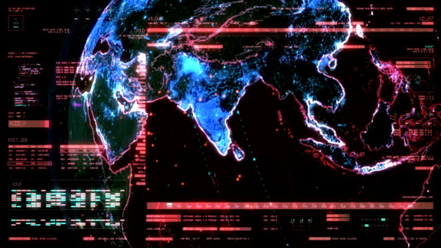 "technologie-schnittstelle computer daten als ""gui"" vi - computerhacker stock-videos und b-roll-filmmaterial"