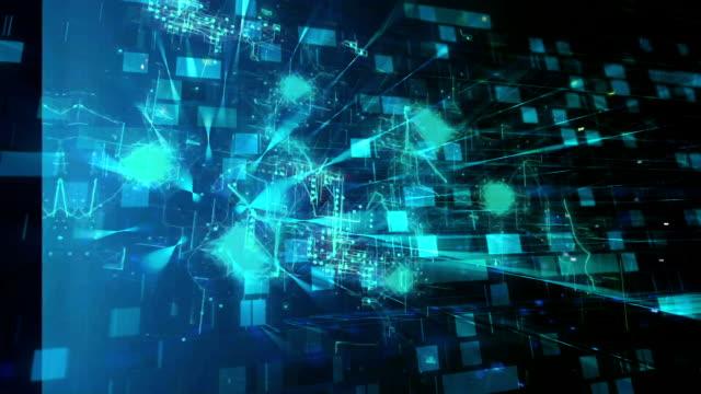 vídeos de stock, filmes e b-roll de tecnologia, internet das coisas, o grande volume de dados - placa mãe