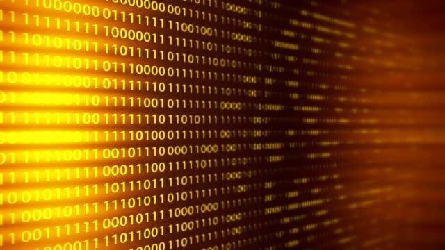 Technology loopable background with binary code