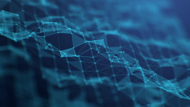 technologie bewegung abstrakten hintergrund, futuristische design welle muster - stromnetz stock-videos und b-roll-filmmaterial