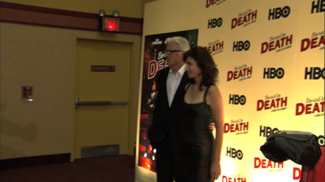 mcu ted danson and mary steenburgen arrive on red carpet and pose for paparazzi - mary steenburgen stock videos & royalty-free footage
