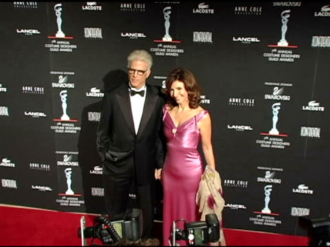 ted danson and mary steenburgen at the 7th annual costume designers guild awards gala at the beverly hilton in beverly hills, california on february... - ted danson stock videos & royalty-free footage