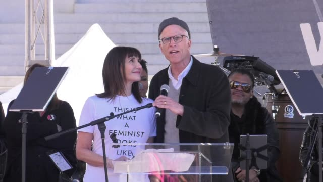 SPEECH Ted Danson at 2018 Women's March Los Angeles on January 20 2018 in Los Angeles California
