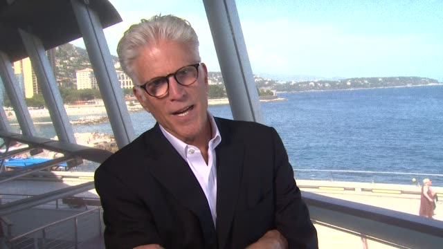 vídeos de stock e filmes b-roll de ted danson on how he got his new role on csi and his character 52nd annual monte carlo television festival interview ted danson on how he got his new... - ted danson