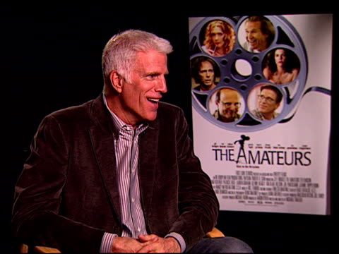 ted danson on the characters in the film at the 'the amateurs' press junket at the four seasons hotel in los angeles, california on november 14, 2007. - ted danson stock videos & royalty-free footage
