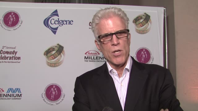 ted danson on what the evening means to him personally at the international myeloma foundation's 2nd annual comedy celebration at los angeles ca. - ted danson stock videos & royalty-free footage