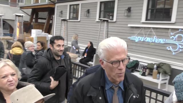 ted danson walking on main street at the sundance film festival in park city, utah at celebrity sightings in park city on january 19, 2018 in park... - テッド・ダンソン点の映像素材/bロール