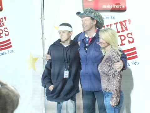 ted nugent and family at the rockin the corp an american thank you celebration concert for us marines at camp pendelton marine base in oceanside... - ted nugent stock videos and b-roll footage
