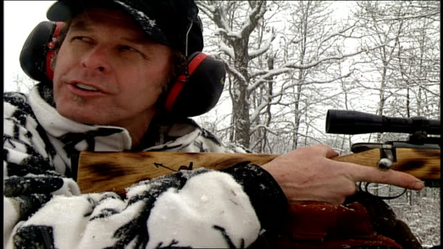 ted nugent shooting targets in the snow - ted nugent stock videos and b-roll footage