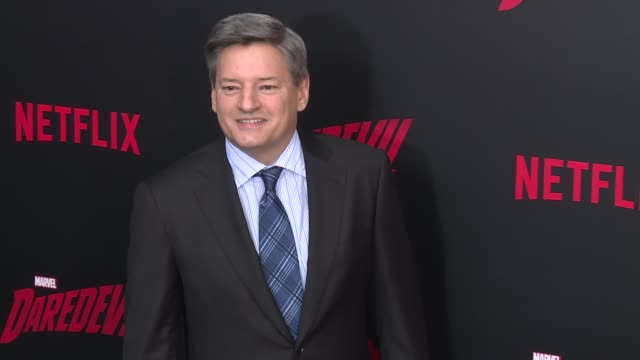 ted sarandos at daredevil season 2 premiere at amc loews lincoln square on march 10 2016 in new york city - amc loews stock videos and b-roll footage