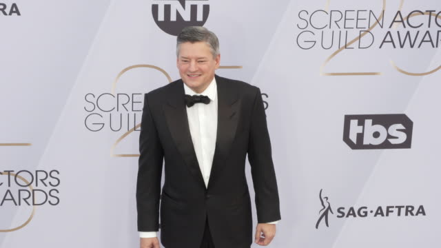 ted sarandos at the 25th annual screen actors guild awards at the shrine auditorium on january 27 2019 in los angeles california - screen actors guild awards stock videos & royalty-free footage