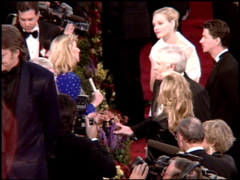ted turner at the 1995 academy awards arrivals at the shrine auditorium in los angeles, california on march 27, 1995. - shrine auditorium stock videos & royalty-free footage