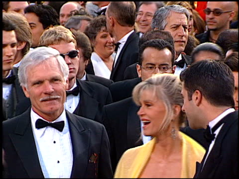 ted turner at the 1997 academy awards arrivals at the shrine auditorium in los angeles california on march 24 1997 - 69th annual academy awards stock videos and b-roll footage