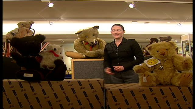 Teddy Bear auction at Christie's Reporter to camera