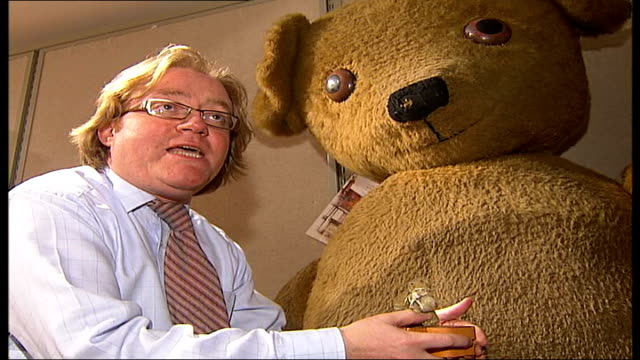 Teddy Bear auction at Christie's Small teddy bear and case Daniel Agnew interview SOT Small teddy bear and case Small teddy bear placed in shirt...