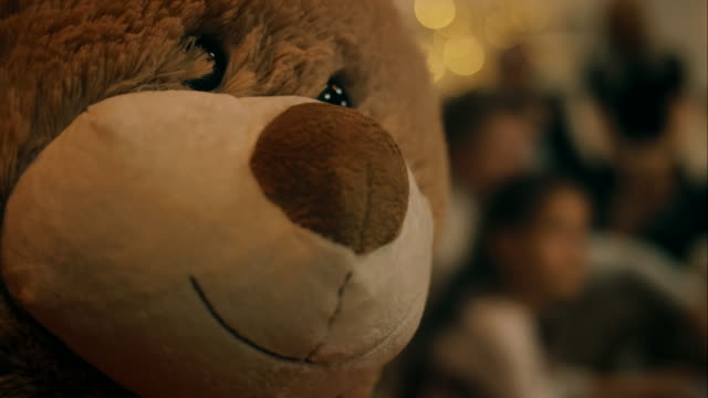 teddy bear on christmas - teddy bear stock videos and b-roll footage