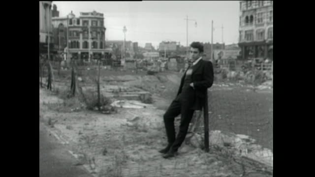 teddy boys meet up on derelict street in london; 1955 - 1955 stock videos & royalty-free footage