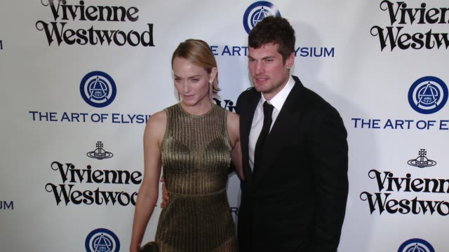 teddy charles and amber valletta at the the art of elysium's ninth annual heaven gala at 3labs on january 9 2016 in culver city california - amber valletta stock videos and b-roll footage