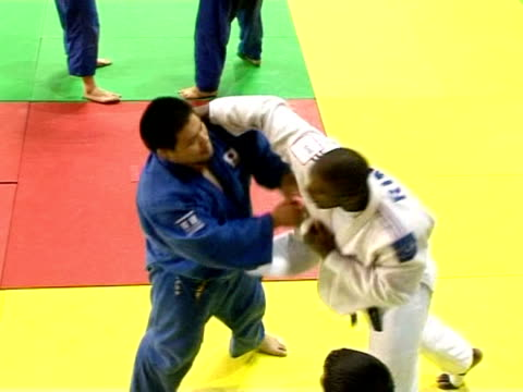 teddy riner is a twotime world champion houlgate calvados france - calvados stock videos and b-roll footage