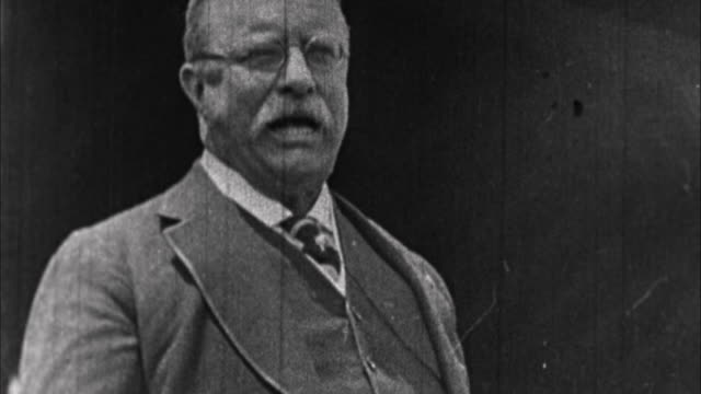 teddy roosevelt having speech / usa - theodore roosevelt us president stock videos & royalty-free footage