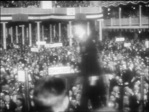 teddy roosevelt speaking to crowd at republican convention in chicago / doc - theodore roosevelt us president stock videos & royalty-free footage