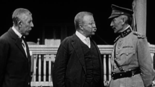 teddy roosevelt speaking to general / usa - theodore roosevelt us president stock videos & royalty-free footage