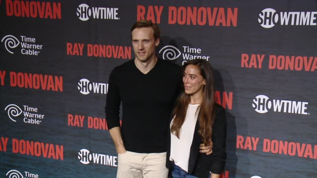 teddy sears melissa sears at showtime and time warner cable celebrate season two of ray donovan in los angeles ca - showtime video stock e b–roll