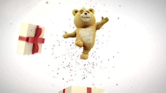 teddybear gift - teddy bear stock videos & royalty-free footage