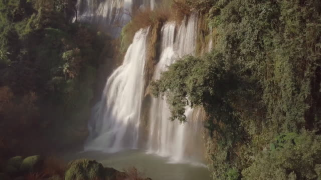 tee lor su waterfall located in the umphang wildlife sanctuary, highest waterfall in thailand. - thailand stock videos & royalty-free footage