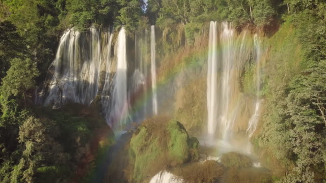 tee lor su waterfall located in the umphang wildlife sanctuary, highest waterfall in thailand. - recreational horse riding stock videos & royalty-free footage