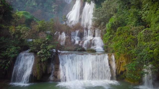 Tee Lor Su waterval, gelegen in het Umphang Wildlife Sanctuary, hoogste waterval in Thailand.