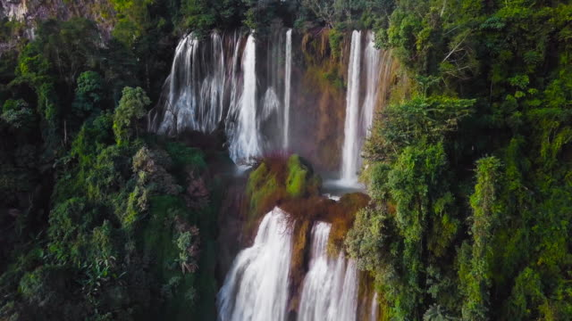 Tee Lor Su Waterfall located in the Umphang Wildlife Sanctuary, highest waterfall in Thailand.