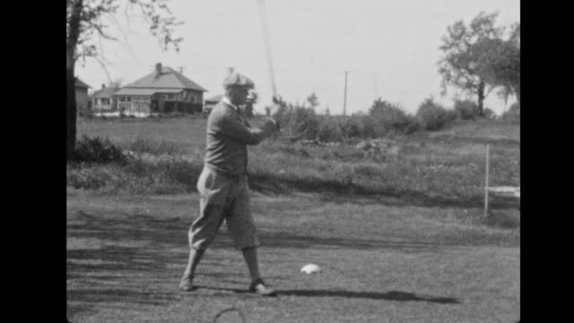 teeing off, 1930 - amateur stock videos & royalty-free footage