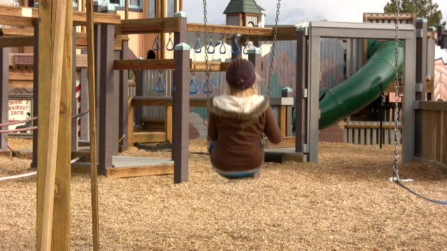 teen age girl on a swing - one teenage girl only stock videos & royalty-free footage