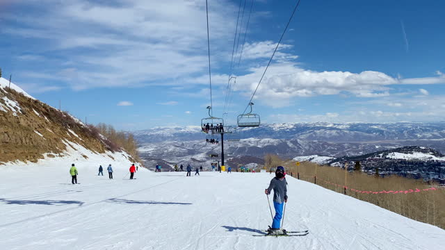 teen at ski slope - park city stock videos & royalty-free footage