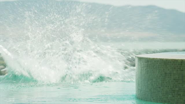 ws teen boy (16-17) jumping into pool / cedar hills, utah, usa - one teenage boy only stock videos & royalty-free footage