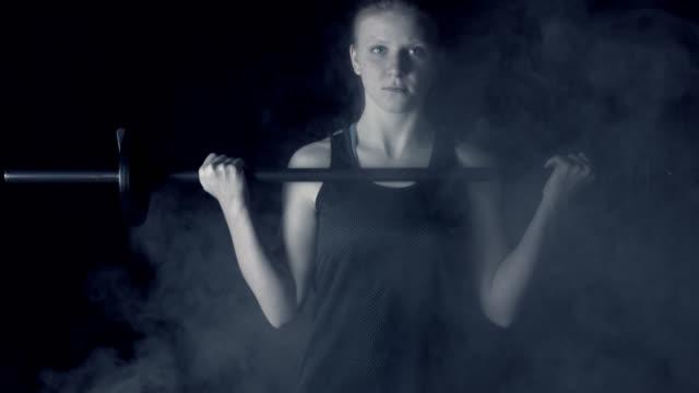 teen girl lifting weights - slim stock videos & royalty-free footage