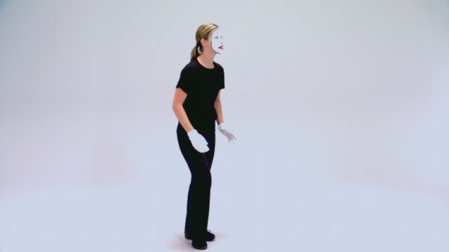 teen girl performing as a mime - only teenage girls stock videos & royalty-free footage