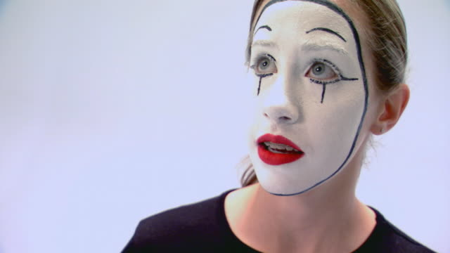 teen girl performing as a mime - mime stock videos & royalty-free footage