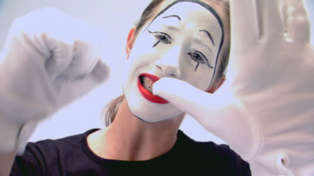 teen girl performing as a mime - mime artist stock videos & royalty-free footage