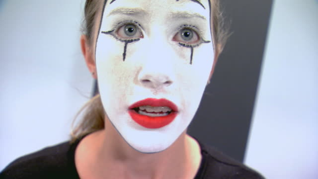 teen girl performing as a trapped mime - mime stock videos & royalty-free footage