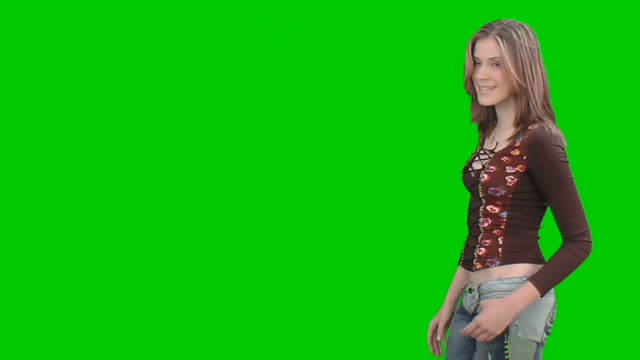 teen girl shows something with her hand - human limb stock videos & royalty-free footage