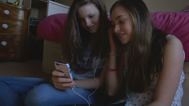teen mobile 11 - only teenage girls stock videos and b-roll footage